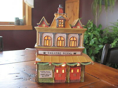 "DEPT 56 DICKENS VILLAGE 55840 ""THEATRE ROYAL"" 1989 LIGHTED BUILDING excellent!"