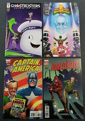 STAN LEE BOX VARIANT 4 Set Ghostbusters Power Rangers Captain America Daredevil