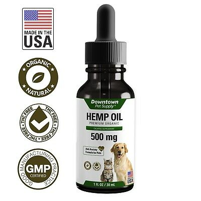Hemp Oil for Dogs Cats 100% Organic | Alternative to CBD  for Anxiety Joint Help