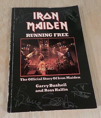Iron Maiden: Running Free Official Story (1st ed printed signatures 1984)