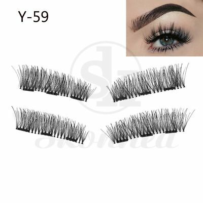 UK Triple Magnetic Eyelashes Handmade Mink Reusable False Magnet Eye Lashes