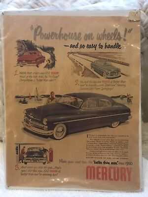 1950's Mercury Car Ad From Country Gentleman Magazine