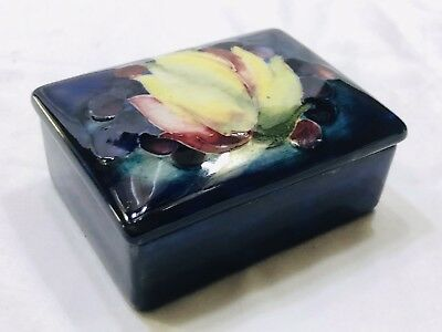 Moorcroft Antique Original Trinket Box ca.1918-1927 Owners Hand Signature