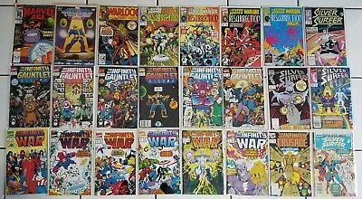 Thanos Quest Infinity Gauntlet War~Silver Surfer SIGNED Warlock~ Comic Book Lot