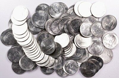 (100 Coins) Mixed Date India 2 Rupees Broadstrikes and Off-Centers