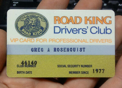 Old 1977 76 Gas Station Auto Truck Stop ROAD KING VIP Professional DRIVERS CLUB
