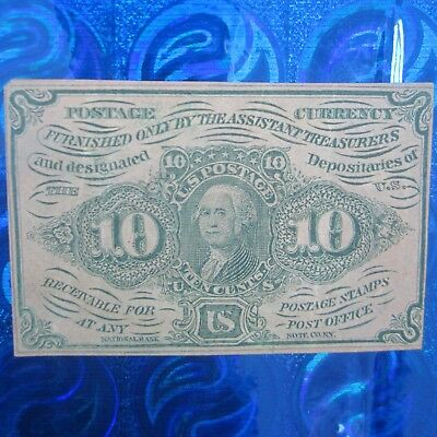 US Postage Fractional Currency 10¢ Bill/Banknote ~ 1862