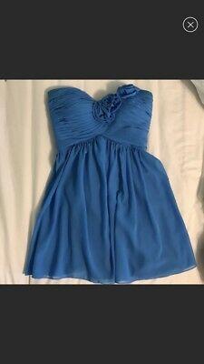 Short Strapless Bridesmaid/Formal dress: Size 4-6