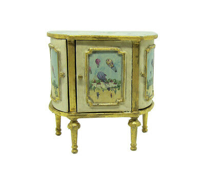 1:12 Scale Miniature Hand Painted Petite Commode by Maritza Moran