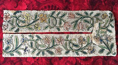 Very Rare 17th Century Tapestry Runner 1.9mtrs Long 16th Refectory Embroidery
