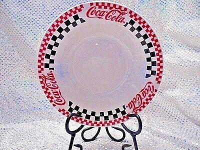 Coca-Cola 8 Inch Bowl, Checkerboard Design On Rim.  (12D112)