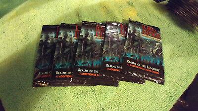 LORD OF THE RINGS TCG REALMS OF THE ELF-LORDS SEALED BOOSTER PACKS x5