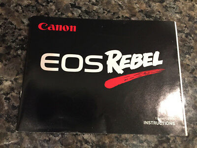 CANON EOS REBEL 35mm SLR CAMERA OWNERS INSTRUCTION MANUAL -CANON-from 1990s