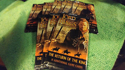 LORD OF THE RINGS TCG RETURN OF THE KING SEALED BOOSTER PACKS x8