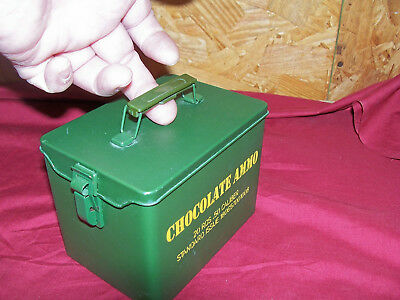 "Mini 5"" Chocolate Candy Ammo Can .50 Cal Caliber US Army USGI Surplus Style M2"