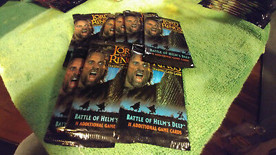 LORD OF THE RINGS TCG BATTLE OF HELM'S DEEP SEALED BOOSTER PACKS x9