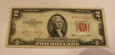 A 1953 B Red Seal Two Dollar Bill