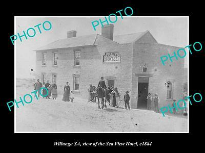 OLD LARGE HISTORIC PHOTO OF WILLUNGA SA, VIEW OF THE SEA VIEW HOTEL c1884
