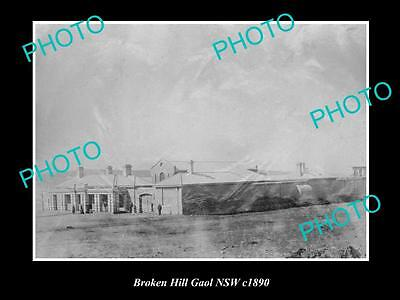 OLD LARGE HISTORIC PHOTO OF BROKEN HILL NSW, VIEW OF THE OLD GAOL c1890