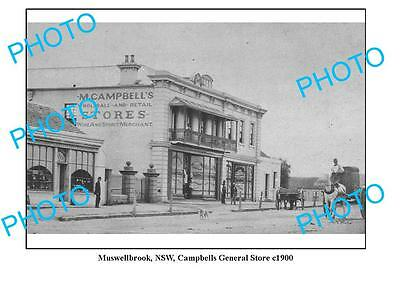 OLD LARGE PHOTO, MUSWELLBROOK, CAMPBELLS GENERAL STORE c1900