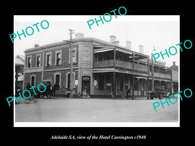 OLD LARGE HISTORIC PHOTO OF ADELAIDE SA, VIEW OF THE HOTEL CARRINGTON c1940
