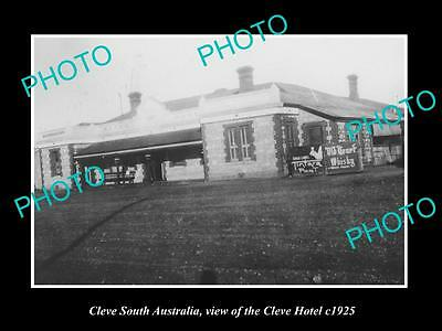 OLD LARGE HISTORIC PHOTO OF CLEVE SOUTH AUSTRALIA, THE TOWN HOTEL c1925