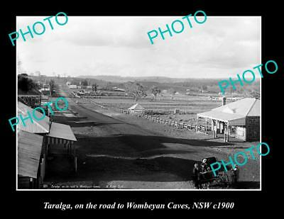 OLD LARGE HISTORIC PHOTO OF TARALGA NSW, VIEW OF MAIN STREET c1900
