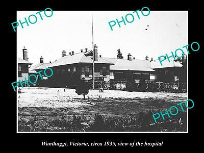 OLD LARGE HISTORICAL PHOTO OF WONTHAGGI VICTORIA, VIEW OF THE HOSPITAL c1935