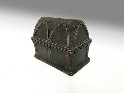 Early Casket Romanesque Gothic Box Chest coffer reliquary small miniature