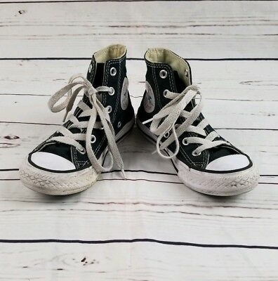 Toddler Converse All Star Black Canvas High Top Casual Sneakers Size 11.5