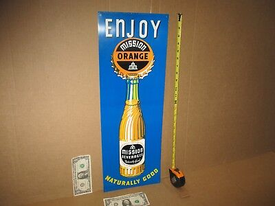 ENJOY MISSION ORANGE Country Store Gas Station CALIFORNIA SIGN -Looks Never Used