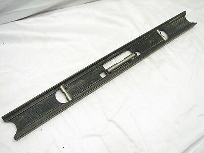 Vintage Stanley No. 36 24 Inch Cast Iron Masons Level Tool 35? 3-Bubble