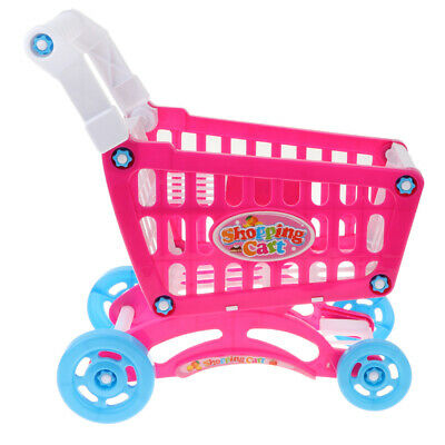 Kids Play Shopping Cart Trolley Supermarket Fun Toy Pretend Play Fruit Food Gift