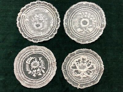 Antique French Normandy Lace Coasters