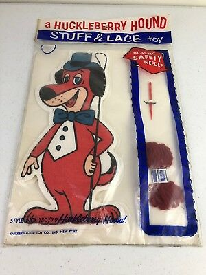 1959 Knickerbocker Huckleberry Hound Hanna-Barbera Stuff & Lace Plush Toy New