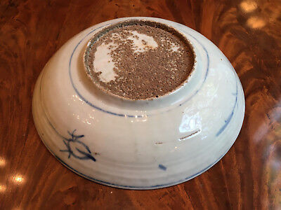 A Large and Rare Chinese Ming Dynasty Blue and White Porcelain Charger.
