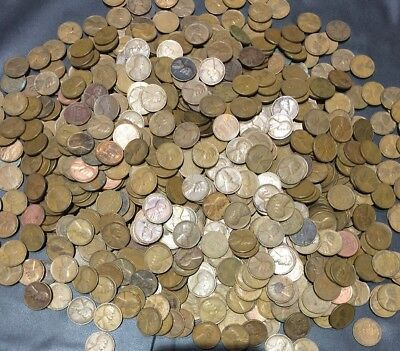 1000 Wheat Cents Circulated 1909-1958 PDS Pennies. Exact Coins!  L@@k~nice Mix!!