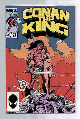 Conan the King #33 and #34, Marvel, 1986, VF+ condition, Robert E Howard