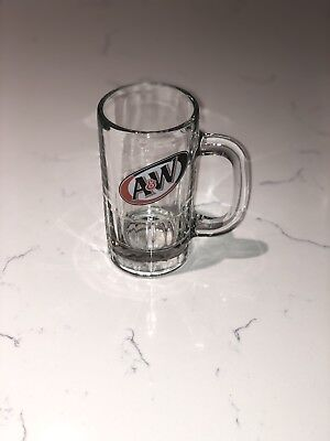 Vintage A&W Root Beer  Heavy Glass Mug Cup Stein 6""