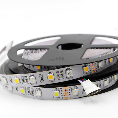 5m flexible Led Streifen Stripe 12V dimmbar RGB+W RGB+WW RGBW SMD 5050 IP20 Band