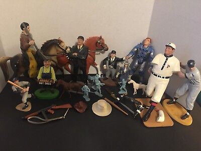 Junk Drawer Lot Cowboy Horse Figure Heartland Baseball Action More