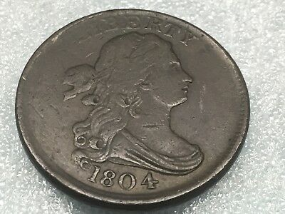 1804 Half Cent C-13 Plain 4 No Stems