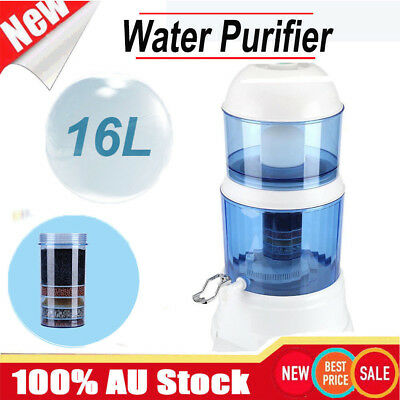 New 8 Stage Water Filter Ceramic Carbon Mineral Benchtop Dispenser Purifier Top