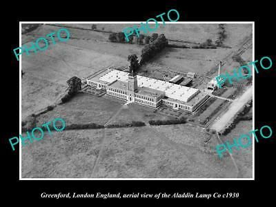 OLD LARGE HISTORIC PHOTO OF GREENFORD LONDON ENGLAND, THE ALADDIN LAMP Co c1930