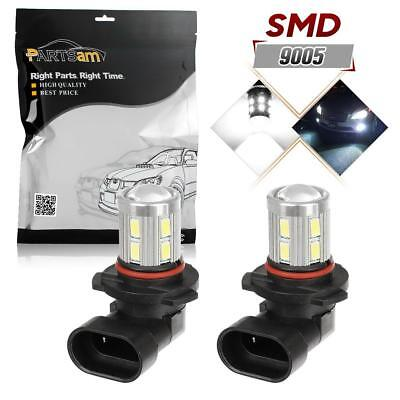 2x 9005 HB3 6000K White Cree 5730 LED Projector Fog Driving Light DRL Bulbs Set