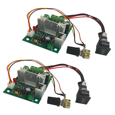 2PCS DC 6A Motor Speed Control Reversible PWM Control Switch DC 6V 12V 24V