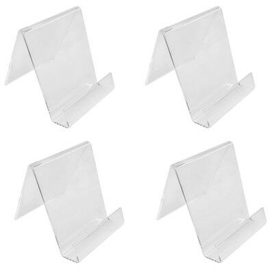 Set Of 4 Pieces 4-1/2 In Height Clear Acrylic Book Clutch Bag Holder Rack Stand