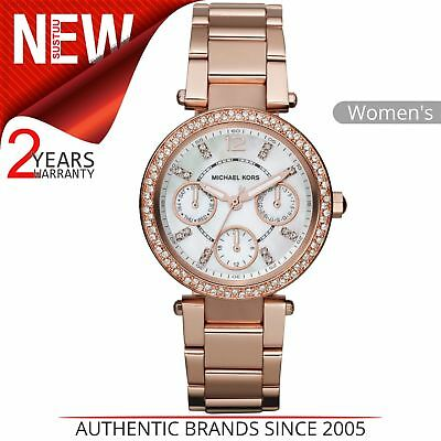 60da93edd991 Michael Kors Parker Women Watch│Mother of Pearl Dial│Rose Gold Tone Strap│