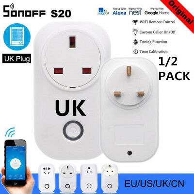 S20 WIFI Smart Remote Control Socket UK Home Automation For Sonoff Smart NEW TR