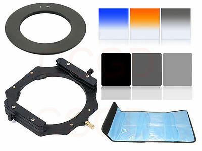 67MM Adapter ring ND2 ND4 ND8 Square graduated Color Filter+ Holder 100mm filter